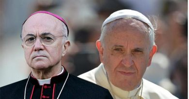 """El ex nuncio papal de EE.UU. califica al Papa Francisco como """"liquidador de la Iglesia Católica"""""""