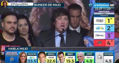 Rotundo éxito del liberal Javier Milei en Buenos Aires: logra ser tercera fuerza política